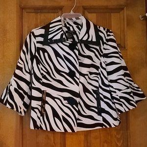 ❤3/$25❤Cropped zebra print jacket by Sandro